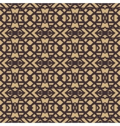Pattern with dark lines on beige in art deco style vector