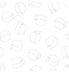 peach outline seamless background vector image