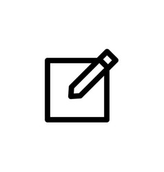 pencil icon edit vector image