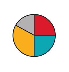 pie chart icon vector image