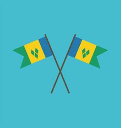 saint vincent and the grenadines flag icon in vector image