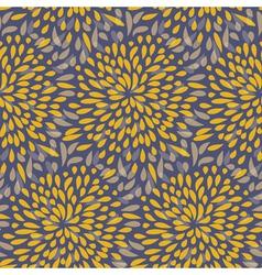 Seamless splattered fireworks pattern in orange vector