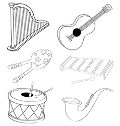 Silhouettes of the different kinds of musical vector
