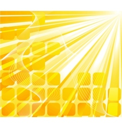 solar banner - orange card vector image
