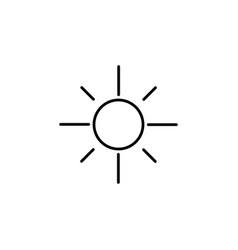 sun icon black vector image