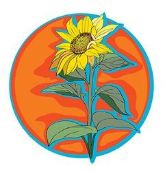 sunflower clip art vector image