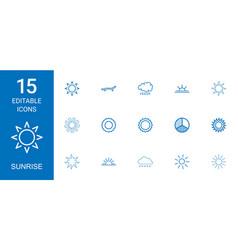 Sunrise icons vector