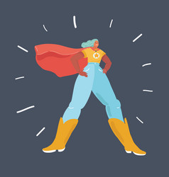 super hero girl on dark vector image
