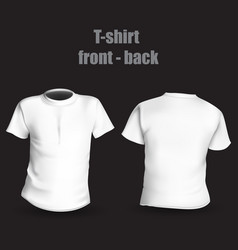 T-shirt in front of back vector