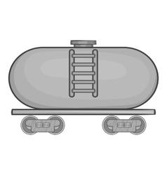 Tanker trailer on train icon monochrome style vector image