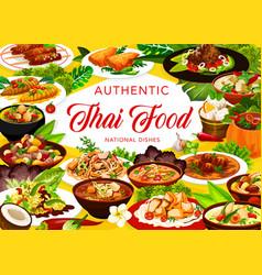 thailand cuisine restaurant meals banner vector image