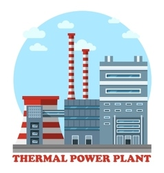 Thermal power station and plant for heating vector