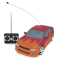 Toy sport car with remote control vector