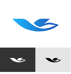Travel agency or airline stylized logo bird or vector