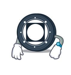 Waiting byteball bytes coin mascot cartoon vector
