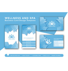 Wellness and spa business card design vector
