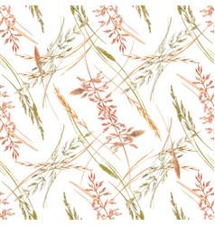 Wild field grass pattern vector