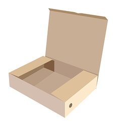 Brown box vector image vector image