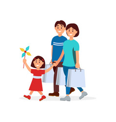 cartoon of happy family mother vector image