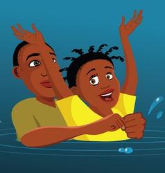 drowning victim vector image
