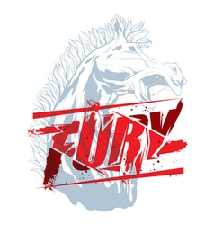 Fury sign with horse head vector image