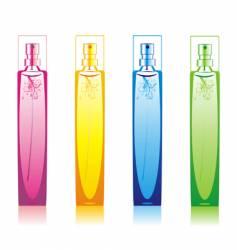 perfume bottles set vector image vector image