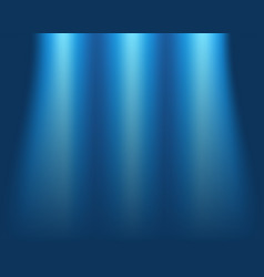 blurred blue background concept of light on stage vector image vector image