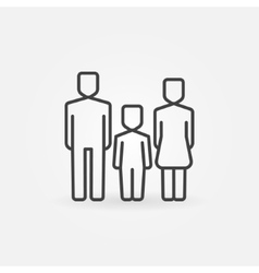 Family line icon vector image