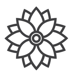 flower astra line icon easter and holiday vector image