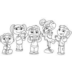 Kids five senses vector image