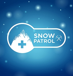 logotype snow patrol on blue background vector image vector image