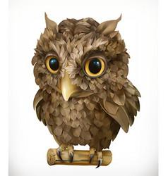 Owl Night bird Funny animal 3d icon vector image