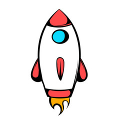 rocket icon icon cartoon vector image