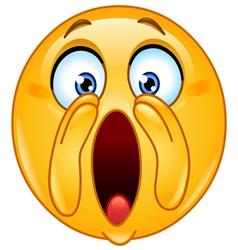 shouting loud emoticon vector image vector image