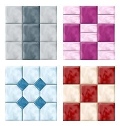 Tile set pattern vector image