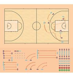 Basketball coaching board vector image vector image