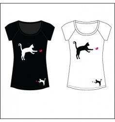 cat woman t shirt print vector image