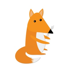 Cute baby fox Cartoon character Forest animal vector image vector image