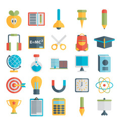 Flat style education and e-learning vector