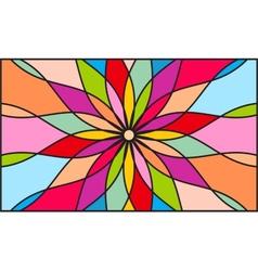 Kaleidoscope color background vector image