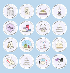 Set with wedding icons and elements vector