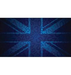 blue uk flag vector image vector image