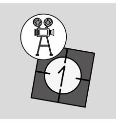 camera film vintage with movie countdown film vector image