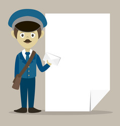 official postman in uniform vector image