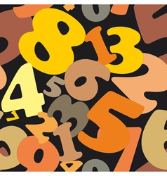Seamless texture made of numbers vector image vector image