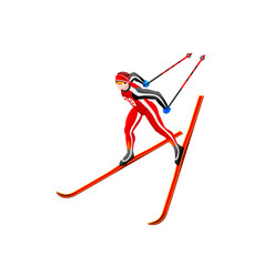 skier clipart cross-country vector image