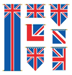 united kingdom banners vector image vector image