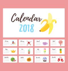 2018 year calendar vector image