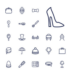 22 accessory icons vector