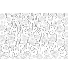 a christmas background with decoration balls and vector image